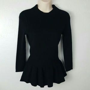 Tory Burch black sweater wool angora size S